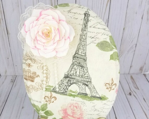 Paris themed wall decor - Wall decor - 3 D Wall art - Floral wall hanging - Pink wall decor - Flower wall decor - Home wall decor