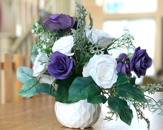 Floral Arrangement - Paper Flower Centerpiece - Customizable colors