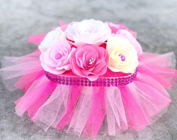 Tutu centerpiece - Girl's room decor - Girl's party decor - Pink princess party