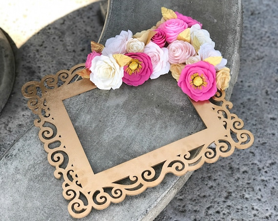 Paper Flower Frame - Photo prop - Colors are Customizable