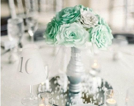 Mint Green Centerpiece using Paper Flowers