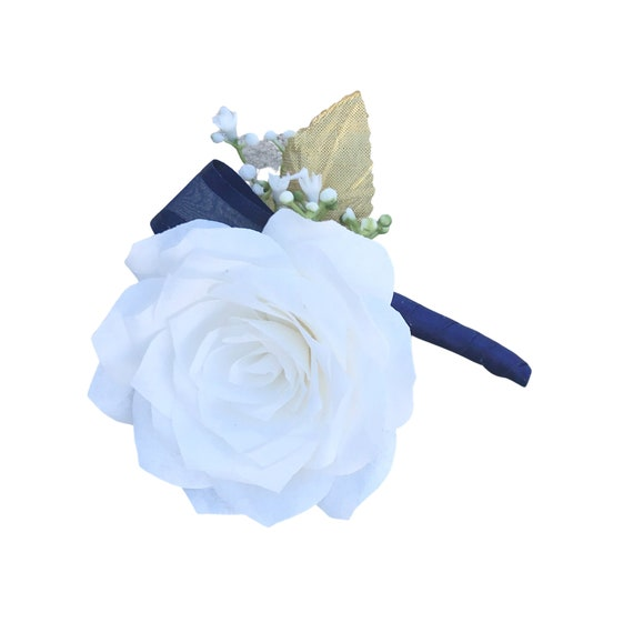 Boutonniere - Paper Flower Boutonniere for Wedding or Events - Many Color Choices