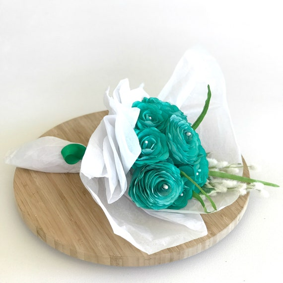Paper Flower Gift Bouquet - Sympathy flowers - Get well soon gift