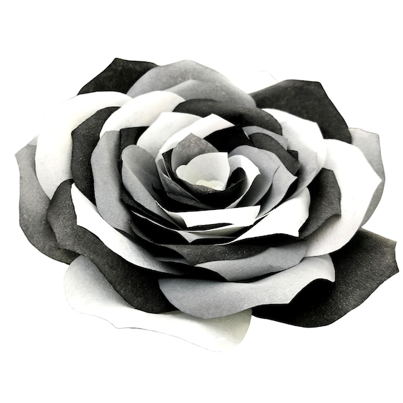 Paper Rose with multicolor petals - Coffee filter paper flower - Colors are customizable