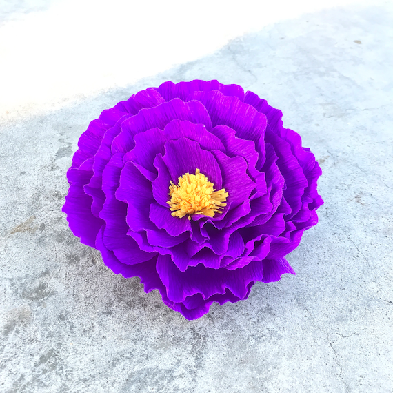 Crepe paper ruffle peony - Many Color Choices