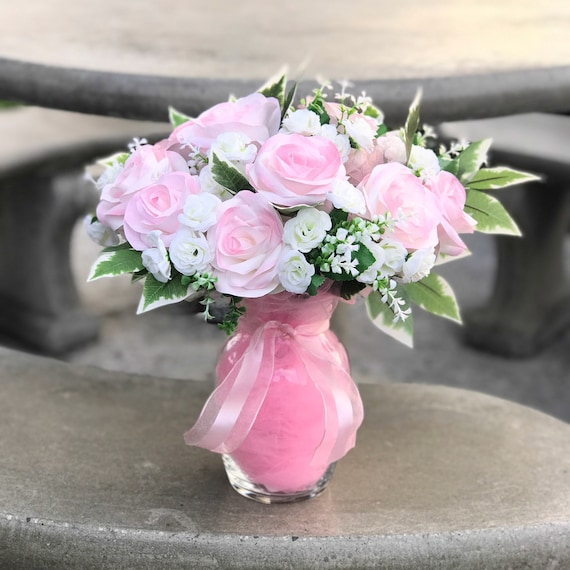Pink Paper Rose Gift Bouquet - A Dozen Roses - Mother's Day Gift