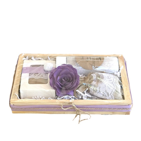 Birthday gift - Lavender Gifts in wood box - Bridal party gifts - Bridal shower gift