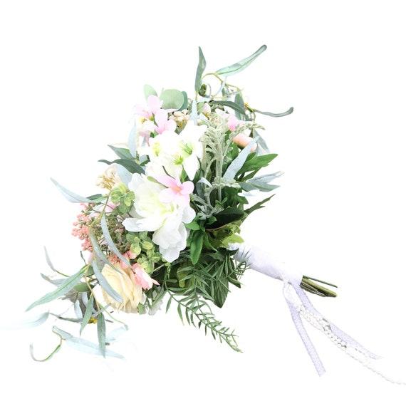 Silk flower alternative wedding bouquet - Artificial flower bridal bouquet