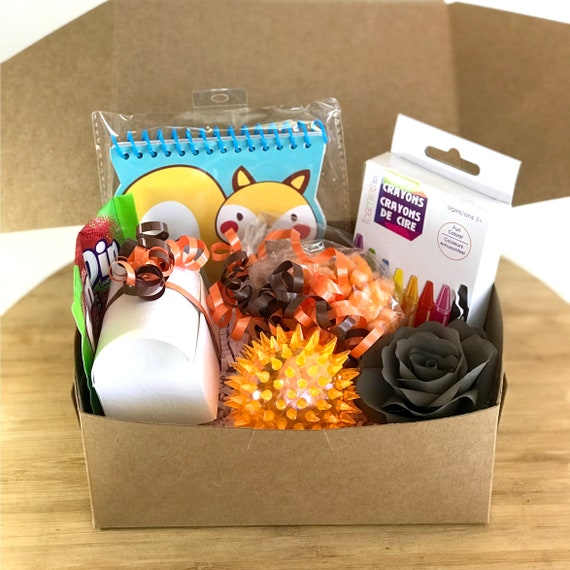 Fall gift box for kids - Thanksgiving kids gift - Happy Thanksgiving party gift for children