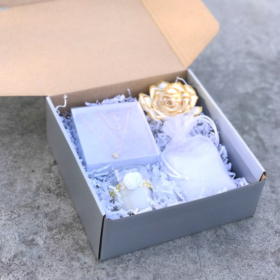White and Gold Gift Box - Gifts for Women