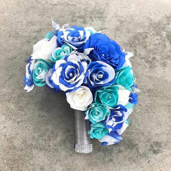 Dragon Bouquet using handcrafted paper flowers and dragons- Customizable colors
