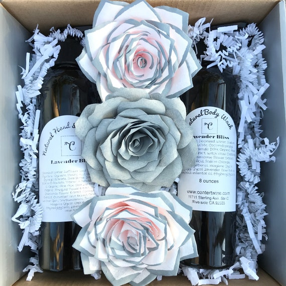 Paper Flower & lotion gift box