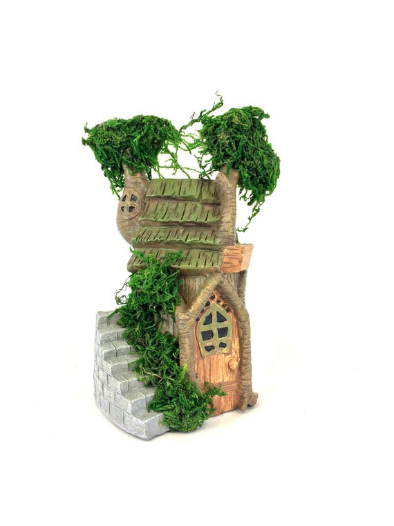 Fairy garden house - Miniature house - Mini garden house - Terrarium house - Tiny Fairy house - DIY fairy garden supply