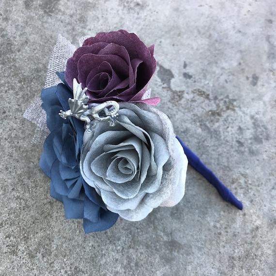 Dragon boutonnière - Paper flower boutonniere - Customizable colors