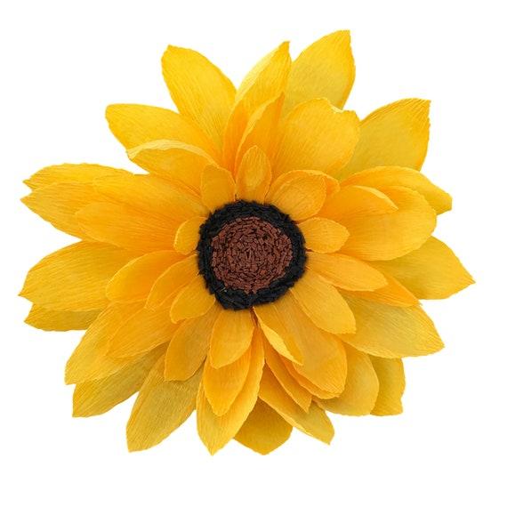 Sunflower - Crepe Paper Sunflower - Customizable colors - Choose stem or no stem