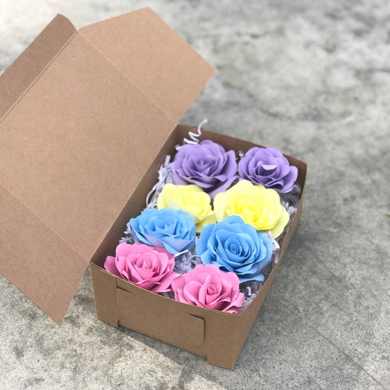 Get well paper flower gift box -  Birthday flower gift box