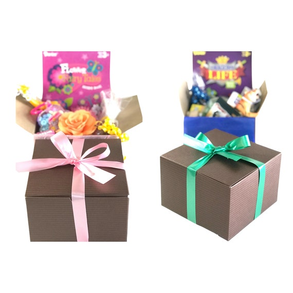 Activity, sweets and toys gift box for children - Gift for kids - Boys activity gift box - Girls activity gift basket
