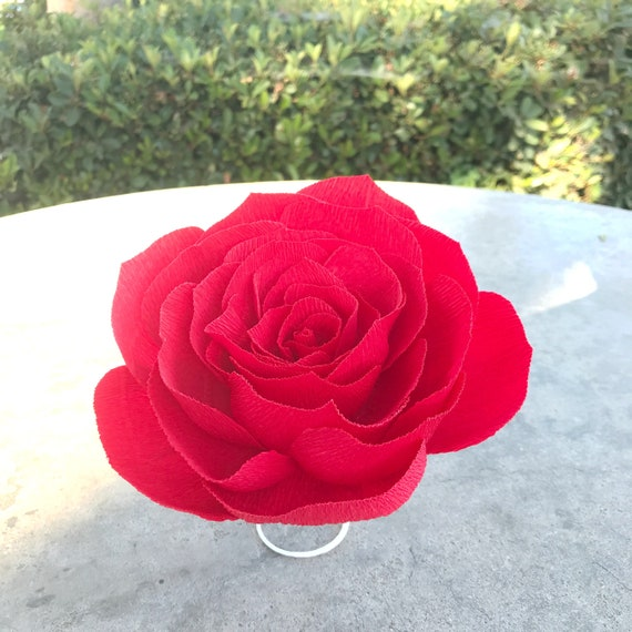 Crepe Paper Rose - Paper flowers - Choose your color