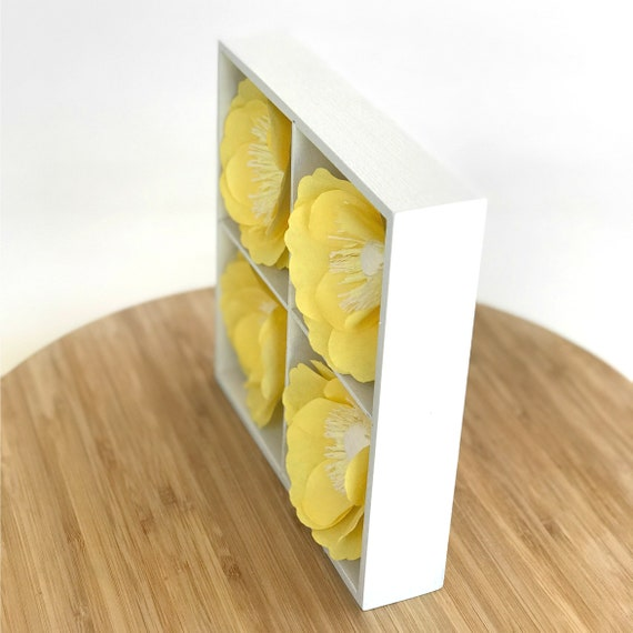 3D Paper Flower Art - Handcrafted paper wall decor - Colors are customizable