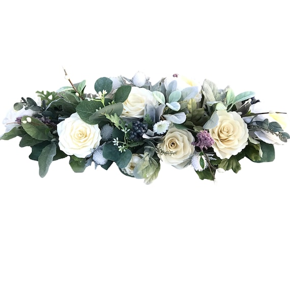 Floral Arch - Paper and Silk Flower Table Runner