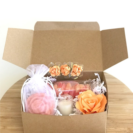 Birthday gift box - Thinking of you gift - Peach candy gift box