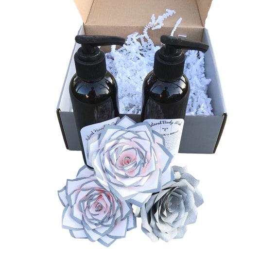 Paper Flower & lotion gift box - Bridal shower gift