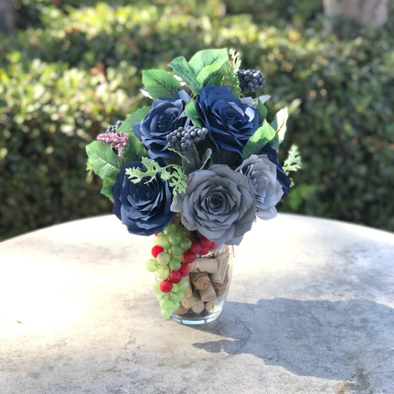 Wine Cork Home Decor Floral Arrangement