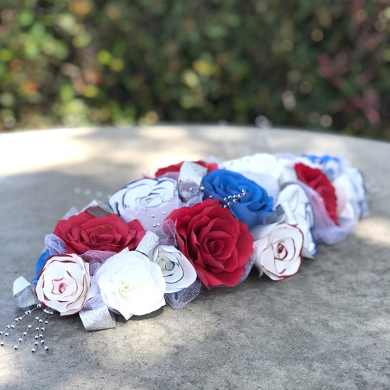 Red White and Blue Fourth of July Table Runner