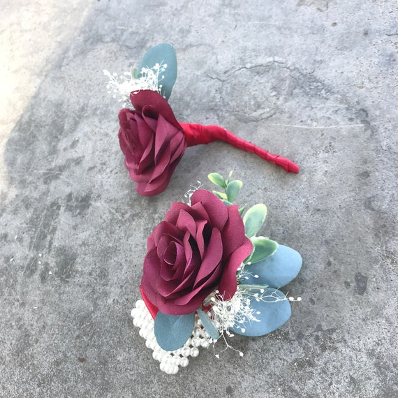 Paper Boutonniere and/or corsage - Customizable colors