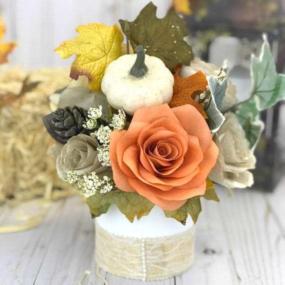 Paper Flower Table Centerpiece