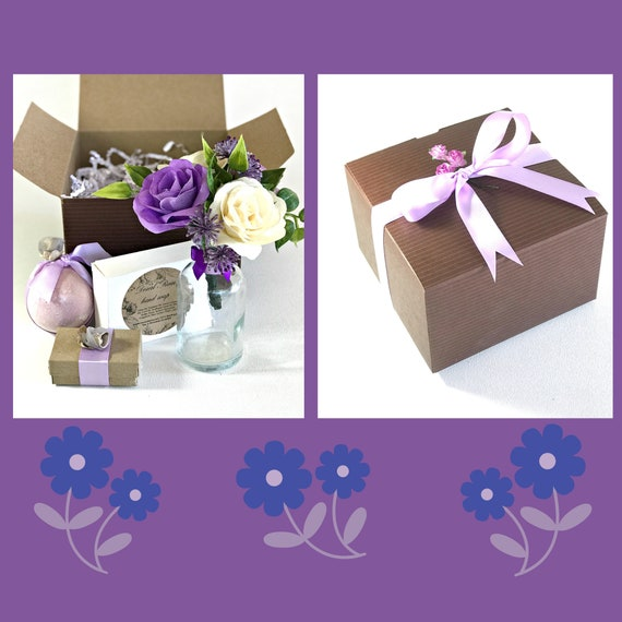 Champagne and Lavender Gift Box for Women - Birthday Gift - Bridal shower gift