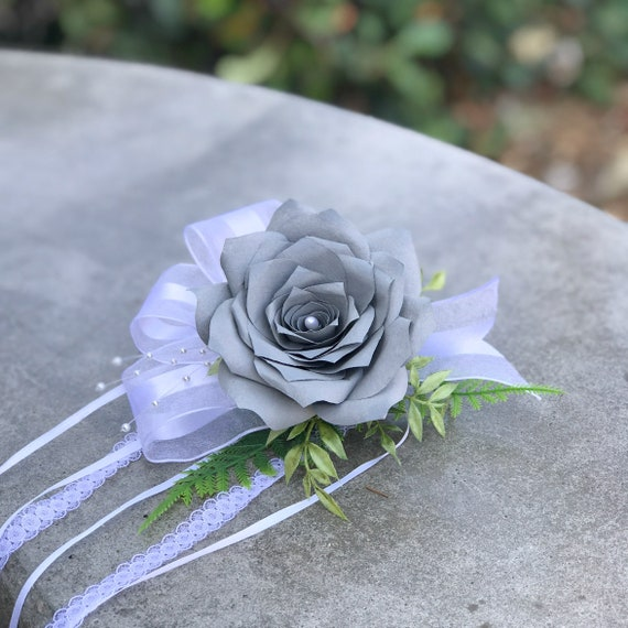 Paper Flower Corsage - Choose your color