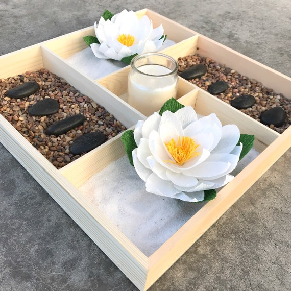 Indoor mini lotus & rock garden - Serenity garden