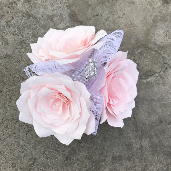Corsage using handcrafted paper flowers - Colors are customizable