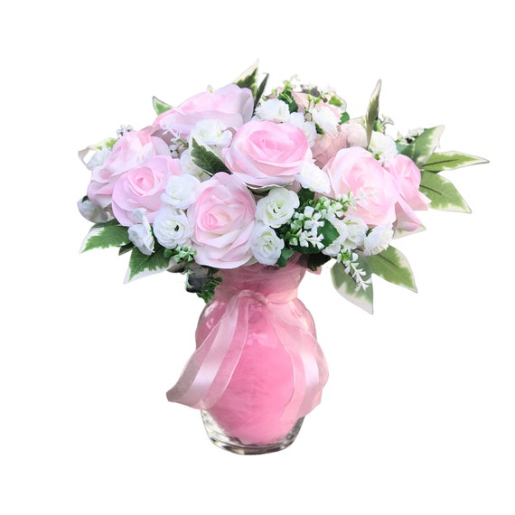 Pink Paper Rose Gift Bouquet - A Dozen Roses