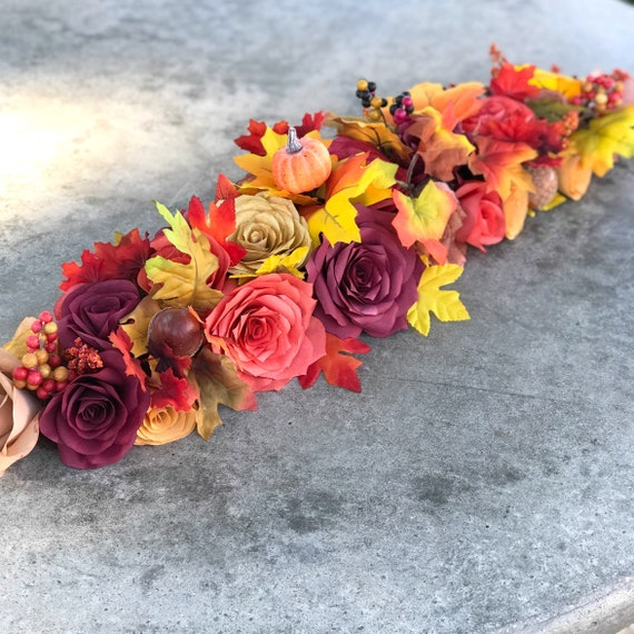 Paper Flower Table Runner - Fall wedding decor