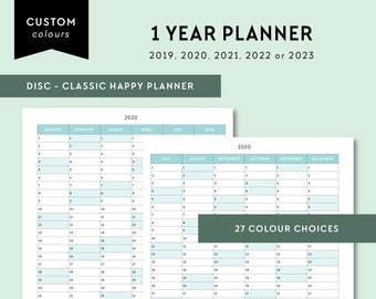 Mini Happy Planner 2019 2020 2021 2022 2023 1 Year   Etsy