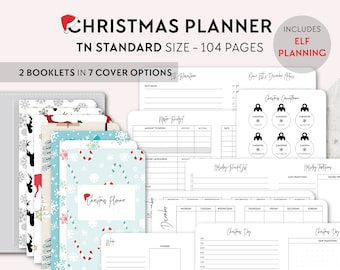 TN STANDARD Size: Christmas Planner, Printable Travelers Notebook Insert, Regular TN, Holiday, Budget, Gifts, Meal Planner, Elf Planning
