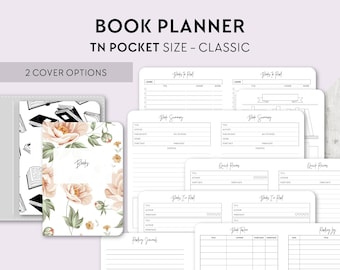 TN POCKET Size: Reading Journal, Printable Travelers Notebook Insert, Pocket TN, Book Review, Book Wishlist, Books to Buy, Books to Read