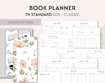 TN STANDARD Size: Reading Journal, Printable Travelers Notebook Insert, Regular TN, Book Review, Book Wishlist, Books to Buy, Books to Read