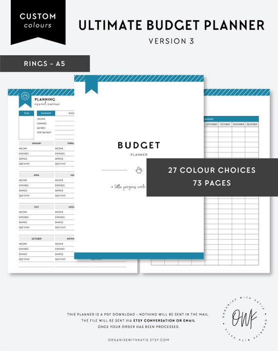 picture about Printable Financial Planner called A5 Greatest Finances Planner, Printable Economic Planner Inserts, Finance Organiser, Monetary Developing, Financial savings, Bills, Personal debt Fee, Objectives