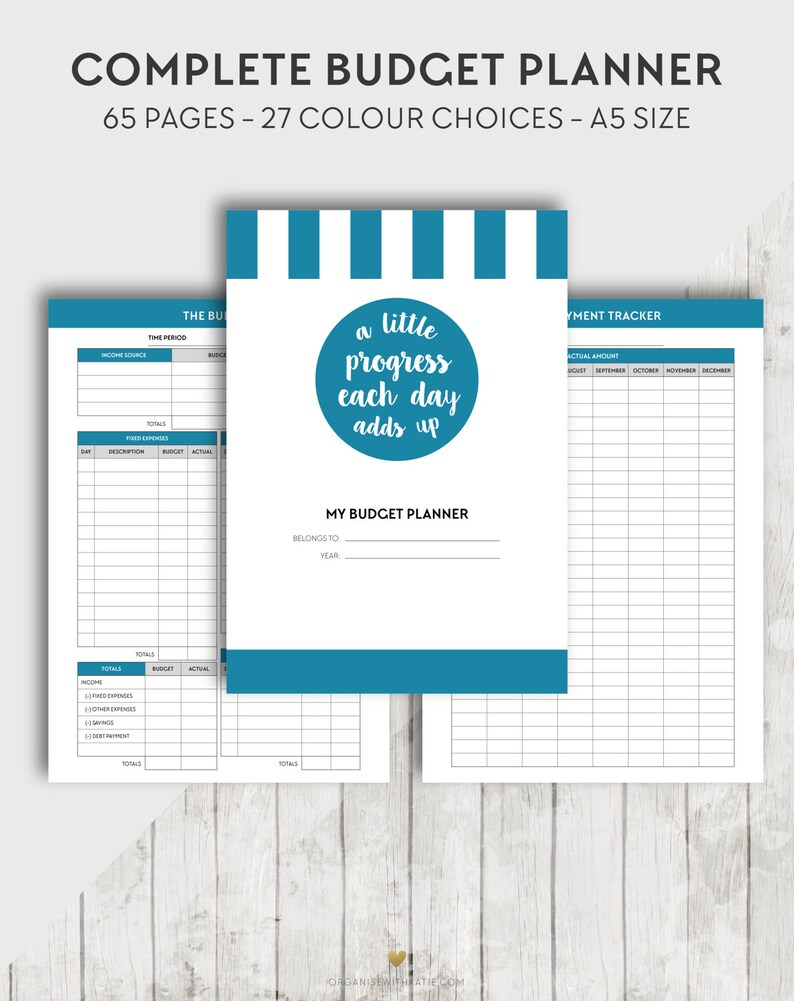 photo regarding Printable Financial Planner called Printable A5 Spending budget Planner, Economical Planner Inserts, Finance Organiser, Economical Building, Regular monthly Preserving, Investment, Credit card debt Charge, Purpose Fastened
