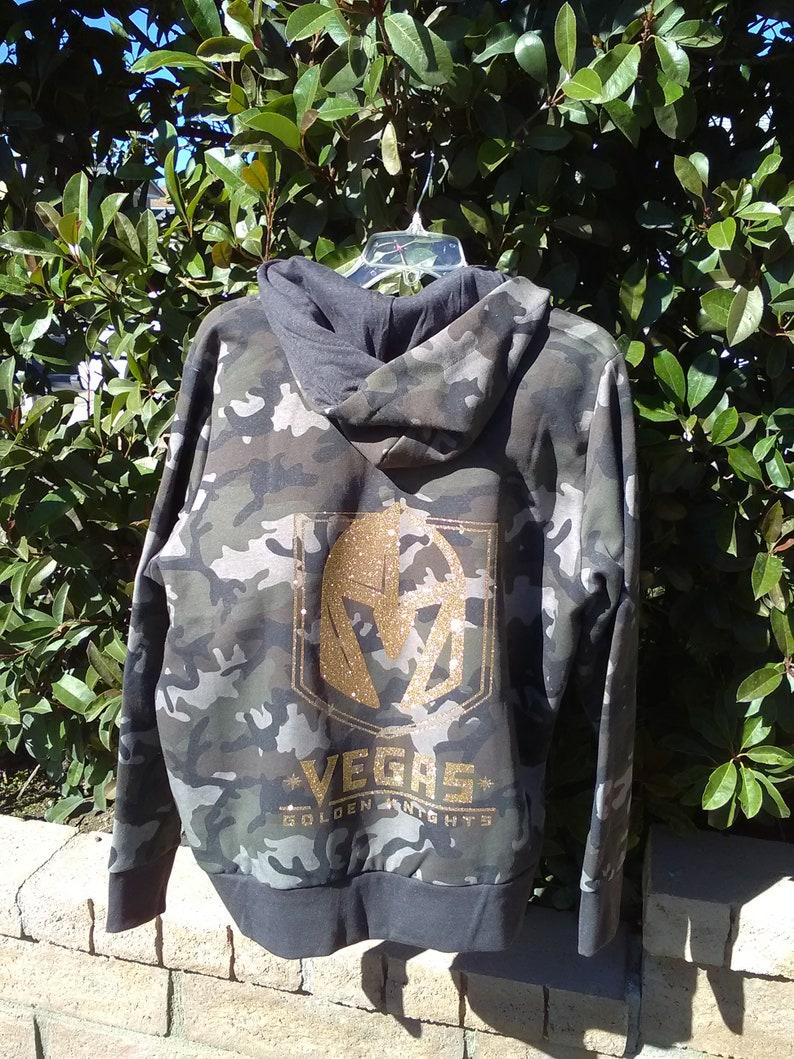 low priced 2d209 9c0b6 Las Vegas Golden Knights Hockey NHL Womans Hoodie zip Camo Sweatshirt all  sizes
