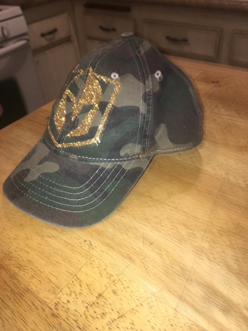 Las Vegas Golden Knights Camo hockey glitter hat Nee  cdd85e50a950
