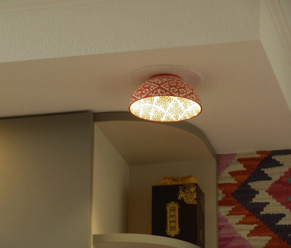 Red Ceramic Recessed Light Kitchen Ceiling Light