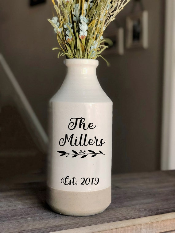 Personalized Milk Can Wedding Gift Housewarming Gift Modern Farmhouse Decor Living Room Decor Wedding Decoration Rustic Home decor