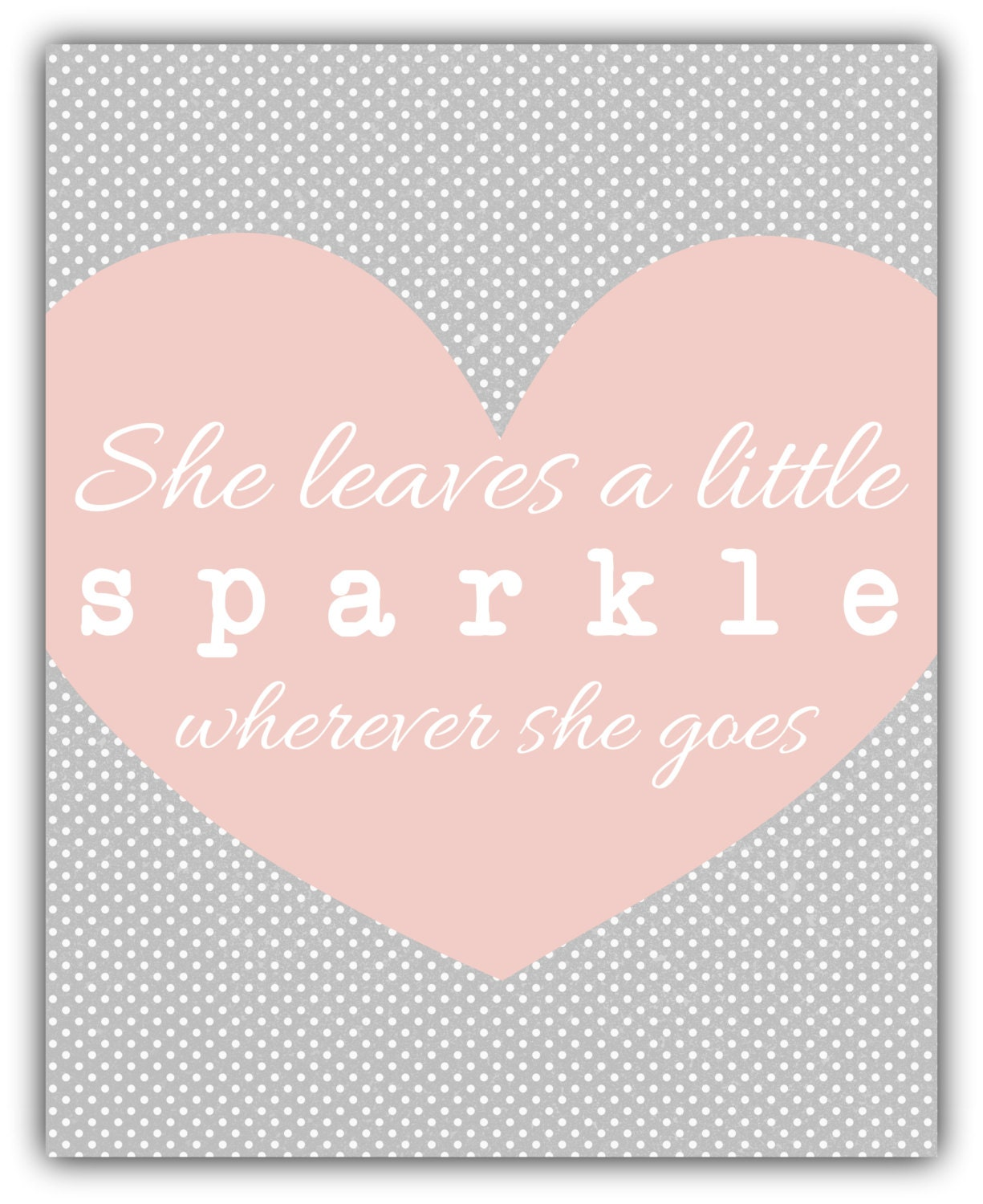 she leaves a little sparkle wherever she goes baby shower
