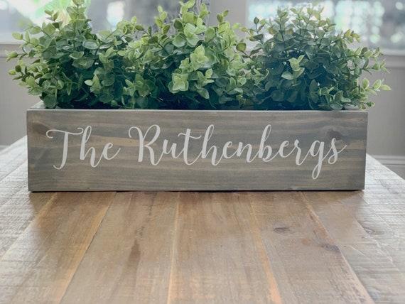 Wedding Decor Gift Rustic Home Decor Personalized Wood Planter Box