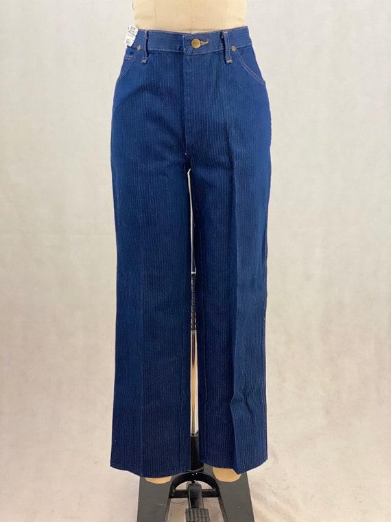 Vintage 70s Wrangler Pinstriped Jeans