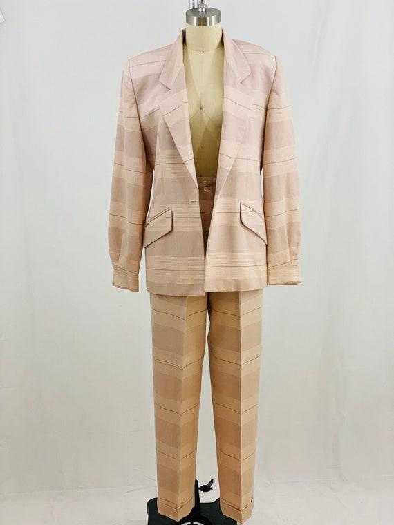 Vintage 80s Plaid Suit 1980s Plaid 2 Piece Set Bla